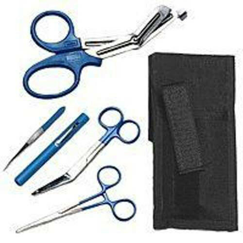 NEW Shears; EMT/Scissors combo pack w/holster -Tactical Blue