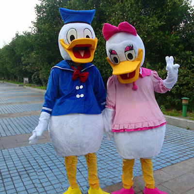Donald Duck & Daisy Mascot Costumes Fancy Dress Adult Size Cospaly Outfits Party