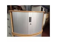 Very Good Condition DESK END QUADRANT TAMBOUR CUPBOARD/FILING/STORAGE HIGH QUALITY