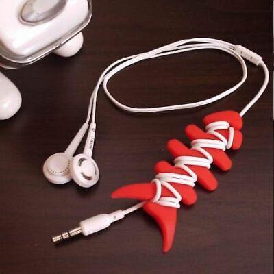 Pez Silicona Organizador de Cables Auriculares Para mp3 mp4 Iphone móviles