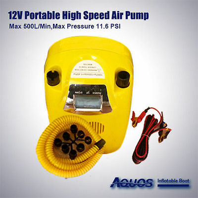 12 V Electric Air Pump Display for Avon Achilles Mercury Zodiac Inflatable Boats