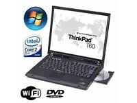 Lenovo IBM Thinkpad T60 Laptop - 250GB - 3GB - Windows 7 - Office 2010
