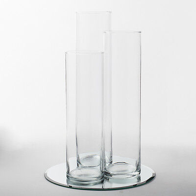 Eastland Mirror and Tall Cylinder Vase Centerpiece Set of 4 (Cylinder Vase Centerpiece)