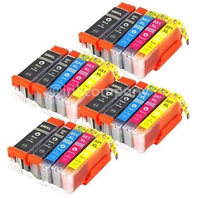 20x XL PATRONEN mit CHIP für CANON PIXMA IP7250 MG5450 MG5550 MG6450 MX725 MX925