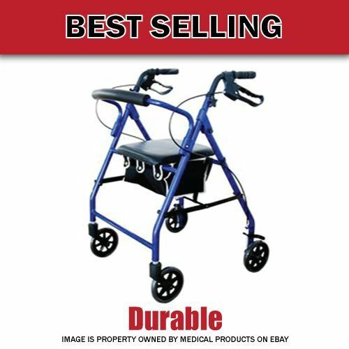 Lightweight Aluminum!! Cardinal₆Rollator Foldable Walker with Wheels Soft Seat