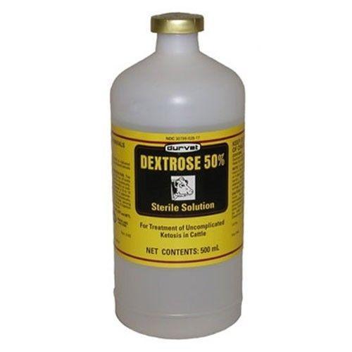 Durvet Dextrose 50% for Cattle Treatment of Ketosis 500Ml