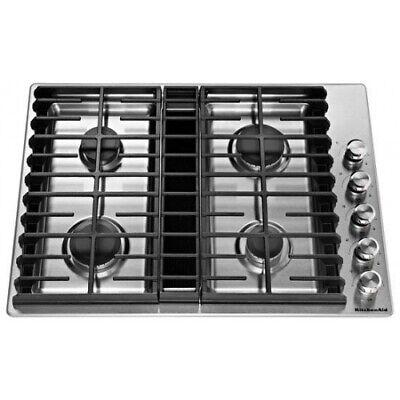 "KitchenAid 30"" Stainless Steel 4-Burner Gas Downdraft Cookto"