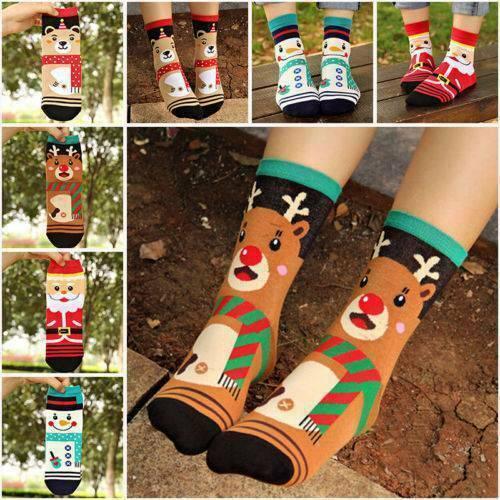 Fashion Christmas Socks Kids Gift Santa Slipper Warm Winter