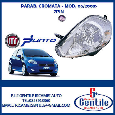 Fiat Grande Punto Faro H4 Pred Reg Electrica Izquierdo Toma Viola