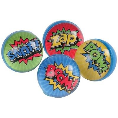12 Superhero Rubber Bouncy Bounce Ball 32mm Birthday Party Goody Bag Pinata Toy - Superhero Goodie Bags