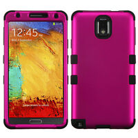 Galaxy Note 3 Tuff Titanium Hybrid Case - Hot Pink/Black
