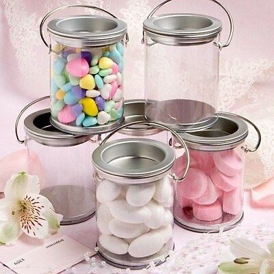 40 Silver Paint Can Candy Box Tin Wedding Bridal Shower Party Favors - Favor Tins