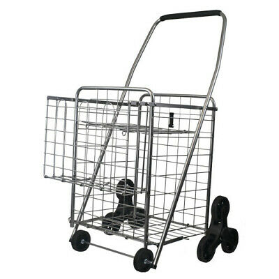 Helping Hand Fq39909 3-wheel Stair Climbing Shopping Cart With 2nd Basket And