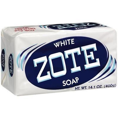 Zote White Laundry Soap, 14.1 Oz More Whitening Power Safe for Delicate Clothes