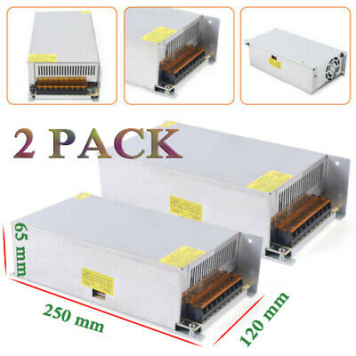 2 12v 50a Amp 110v 220v 600w Power Supply Led Strip Light 12 V Volt 110 220 Ac