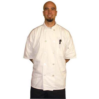 Jrc Ritz Foodservice Rzsswhsm Short Sleeve Chef Coat - White Size Small