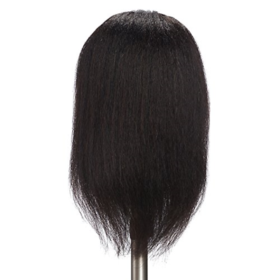 Afro American Cosmetology Mannequin Head 100 Human Hair Hairdresser Training - $28.59