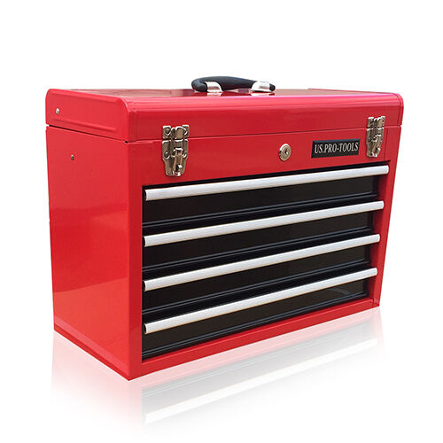 380 us pro tools portable toolbox tool chest box cabinet garage 4 drawers ebay. Black Bedroom Furniture Sets. Home Design Ideas