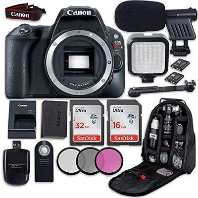 Canon Eos Rebel Sl2 Dslr Camera  Body Only   Led Light   Video Accessory Bundle