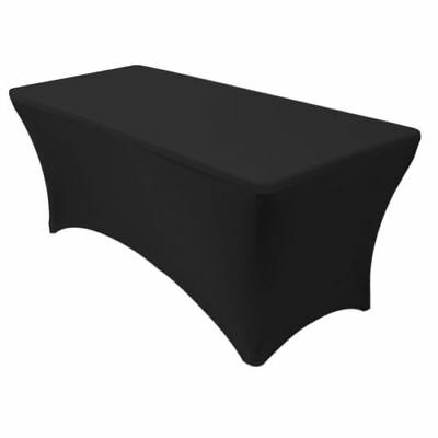 Black Table Linen Cover Wedding Banquet Party Tablecloth Venue Decorations BULK (Black Linen Tablecloth)