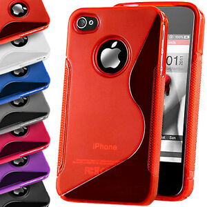 S-Line-Case-Gel-Rubber-Silicone-Skin-TPU-Wave-Back-Cover-For-Apple-iPhone-4-4S
