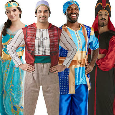 Fancy Dress Arabian Nights (Aladdin Adults Fancy Dress Disney Arabian Nights Fairy Tale Mens Ladies)