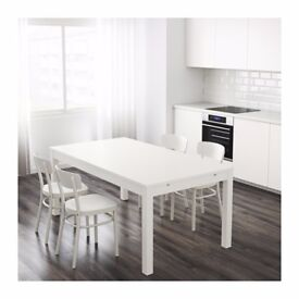 Extendable table IKEA BJURSTA White, 175/218/260x95 cm