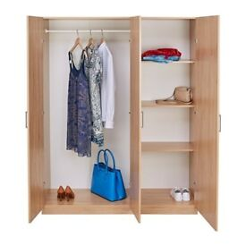 Brand new Ikea 3 door wardrobe for sale! Ikea Dombas oak effect