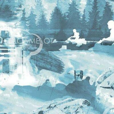 Star Wars Watercolour - Falcon Toile - Cotton Print Fabric - half metre