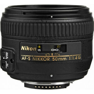 Nikon 50mm F1.4G lens - Mint with box and filter