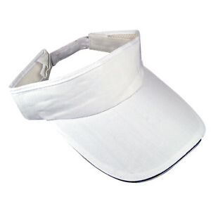 Sports-Sun-Visor-Cap-Hat-Adjustable-for-Golf-Tennis-Fishing-White-Headband-New