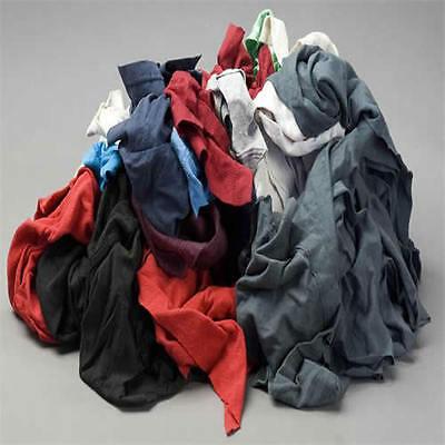 COLOR KNIT T-SHIRT WIPING RAGS CLEANING CLOTH 50 lb BOX - BEST QUALITY &