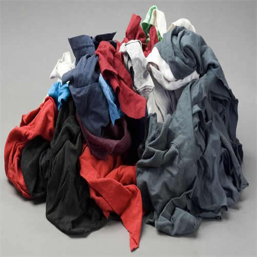 COLOR KNIT T-SHIRT WIPING RAGS CLEANING CLOTH 50 lb BOX - BEST QUALITY & PRICE