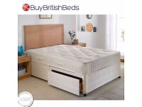 BRAND NEW **** DOUBLE DIVAN BED WITH MATTRESS £89 - EXPRESS DELIVERY BASE ONLY £49