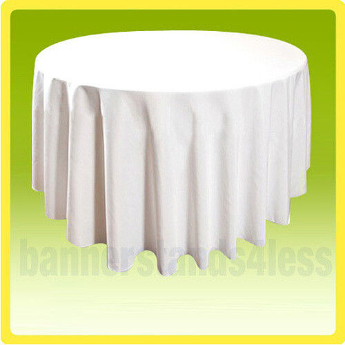 """70"""" Round Tablecloth Table Cover Wedding Banquet Event - WHITE"""