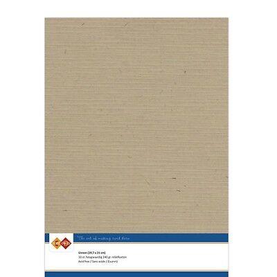 (EUR 4,81/m²) Leinenkarton 10xA4-Bogen cappuccino 45