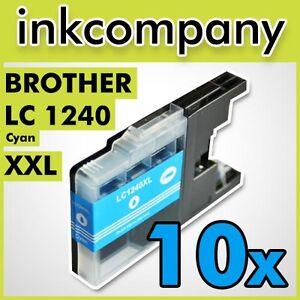 10x-LC1240-XL-C-IMPRESORA-DCP-J725DW-J925DW-J525W-J430W-J5910DW-J625DW