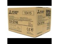 Mitsubishi CK-D746 print media *2x ink + photo paper rolls for 800prints