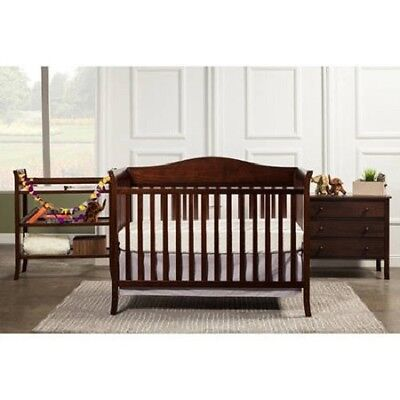 Convertible Crib with Drawers  Dresser Set, Nursery Bed with Changing Table