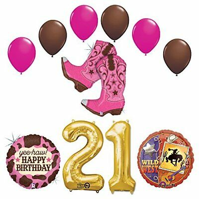 Wild Wild West 21st Cowgirl Boots Birthday Party Supplies   - Cowgirl Birthday Supplies