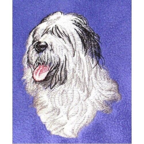 Embroidered Ladies Fleece Jacket - Old English Sheepdog BT2621