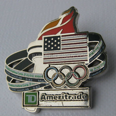 2014 Sochi Winter Olympic Ameritrade Torch Pin