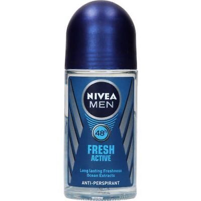 New & Best Nivea Fresh Active Deodorant Antiperspirant Roll on Men 50ml