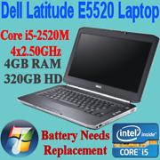 """Dell Latitude 15.6"""" E5520 CORE i5-2520M 4x2.50GHZ 4GB 320GB WIN-7 Nunawading Whitehorse Area Preview"""