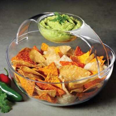 Prodyne Chip and Dip Bowl, Clear