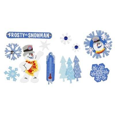 Frosty the Snowman 3D Foam Stickers 11pcs Kids Christmas Crafts CardsBXX