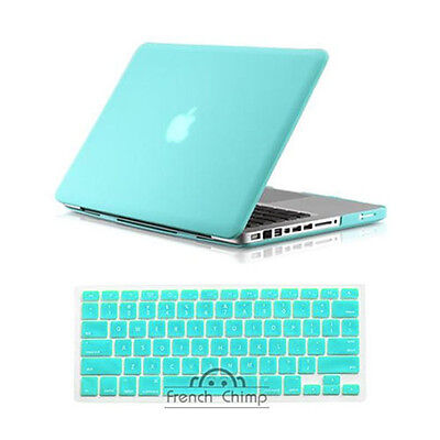 Rubberized Ocean Green Hard Case for Apple Macbook Pro 13 A1278 + keyboard cover on Rummage
