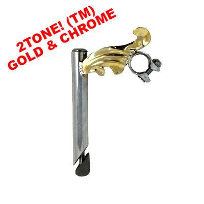 2Tone Gold Wing Chrome Stem With 22.2 mm Handlebar Stem LOWR