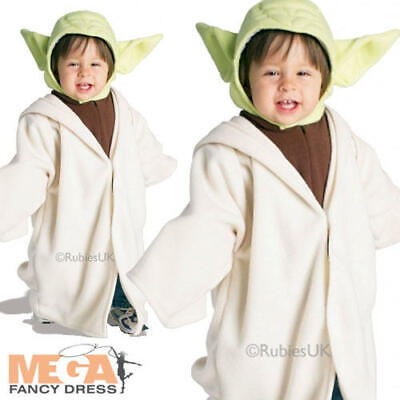 Baby Toddler Yoda Fancy Dress 1-2 Years Star Wars Child Costume Boys Outfit New (Baby Kostüme Star Wars)