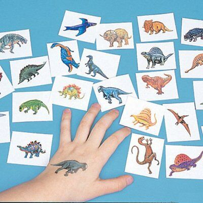 72 DINOSAUR TATTOOS temporary kids DINO birthday party - Child Party Favors